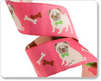 "7/8"" Fawn pug on pink by Jessica Jones"