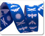 "5/8""  Blue & White Night Life - Jane Sassaman"