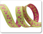 "3/8"" Mini Dots Pink & Lime Reversible by Nancy Zieman"