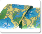 "2"" Morning Glories in Blue/Yellow - By Laura Foster Nicholson"