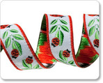 """5/8"""" Ladybug in Red/White/Green"""
