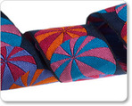 "1-1/2"" Wide Beach Ball  on black - Kaffe Fassett"