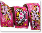 "7/8"" Pink Tattoo RK Ribbons"