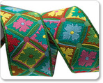 "7/8"" Green Antwerp Flowers - Kaffe Fassett"