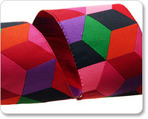 "1 1/2"" Red Tumbling Blocks - Kaffe Fassett"