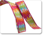 "3/8"" Mini Ikat Orange/Pink Multi - Dena Designs"