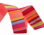 "7/8""-Lime & Coral Roman Stripes - Kaffe Fassett"