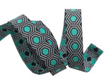 "Tiny Mint Tortoise dots on Black 3/8"" by the yard"