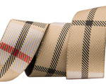 "7/8""- Tan Woven Plaid by RR"