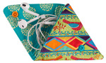 Vintage coin Pouch Ribbon Kit Sew4Home Red Bird on Green