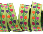 "5/8""-Multi Dots on lime - Sue Spargo"