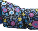 "1 1/2""-Purple on black Suzani Floral - LFNT"