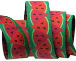 "7/8""-Watermelon Red  on Green- by Raphael Kerley"