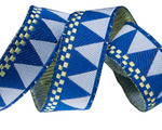 "5/8""- Blue triangles with checkerboard edge by Jane Sassaman"