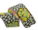 "7/8""-Guinea Flower on Green/Brown - Kaffe Fassett"