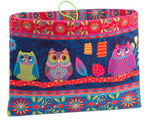 Sewing Project Kit-Owls Tablet case- Velvet
