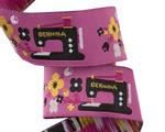 "7/8""-Black Bernina Sewing Machine on Pink Jessica Jones"