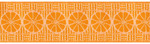 "1-1/2"" Cut Oranges in Orange/White - By Laura Foster Nicholson"