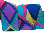 "7/8"" Big Diamonds purple, pink and blue- Kaffe Fassett"
