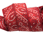 "7/8""-Bandana on Red- by Raphael Kerley"