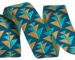 "5/8"" Gold & Teal Positive Direction 5/8"" - Splendor by Amy Butler"