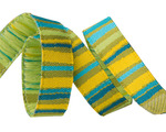 "3/8"" Green fanciful stripes"