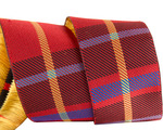 "1 1/2""- Red Woven Plaid by RR"