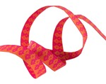 "3/8""-Orange on Pink Wanderer - Tula Pink"