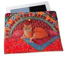 Sewing Project Kit-Ginger Cat-Tablet case- Velvet