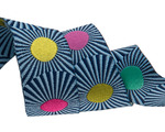 """Navy Blue stripes and dots 7/8"""" by the yard"""