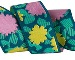 """7/8"""" Pink & Yellow Simply Bold Floral 7/8"""" - Splendor by Amy Butler"""