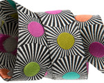 """Black stripes and dots 7/8"""" by the yard"""