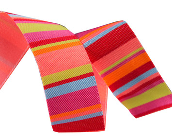 "7/8""-Lime & Coral Roman Stripes - Kaffe Fassett picture"