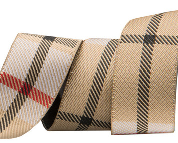 "7/8""- Tan Woven Plaid by RR picture"