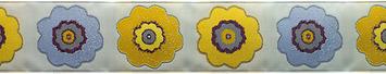 "1 1/2"" Primrose in Purple/Mustard - By Laura Foster Nicholson picture"