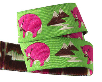 "7/8""-Pink Polar Bear on Green - Jessica Jones picture"