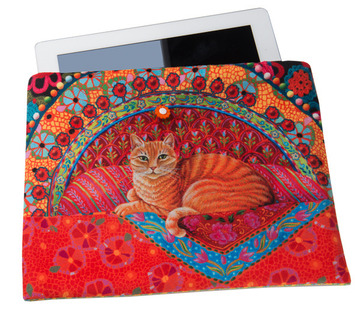 Sewing Project Kit-Ginger Cat-Tablet case- Velvet picture