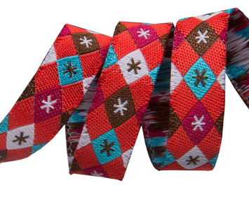 "3/8""- Argyle and stars on red- mini by Jessica Jones picture"
