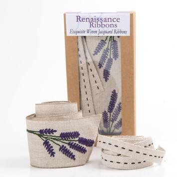 Ribbon Box Vintage Linen Lavender picture