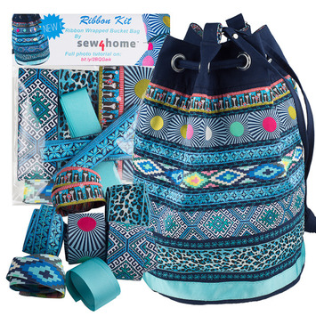 Ribbon Kit Sew4Home Blue Bucket bag picture