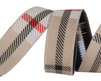 "5/8""- Tan Woven Plaid by RR picture"