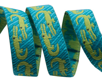"""3/8"""" Turquoise Crocodile 3/8"""" - Folk Tails by Sue Spargo picture"""