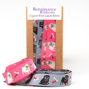 Ribbon Box Pugs picture