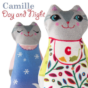 Sewing Project Kit-Baby Camille Day/night Cat Velvet picture