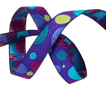 "3/8""-Mini broken dots on purple-Zecca picture"