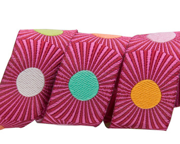 """Pink stripes and dots 7/8"""" by the yard picture"""