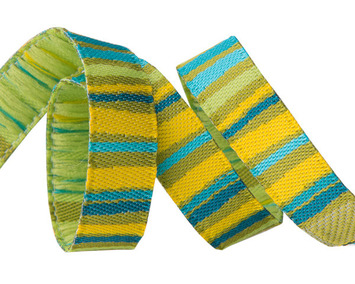 "3/8"" Green fanciful stripes picture"