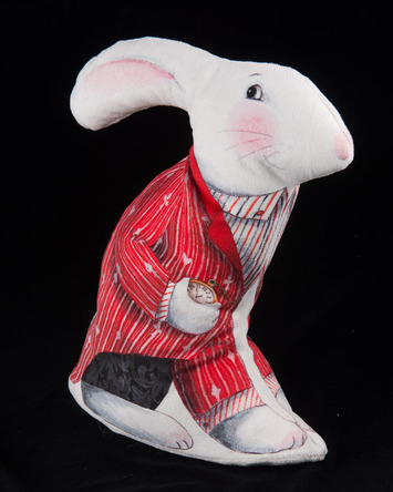 Red Coat -Alice White Rabbit Velvet Sewing Project Kit picture
