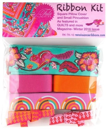 Ribbon Kit-OnPoint Pillow -Tula Pink- Chipper picture
