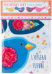Sewing Project Kit-Cotton Blue Flowery Bird additional picture 1